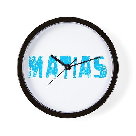 Matias Faded (Blue) Wall Clock