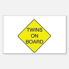 Twins on Board Rectangle Decal