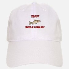 Trout trapped in a human body Baseball Baseball Cap