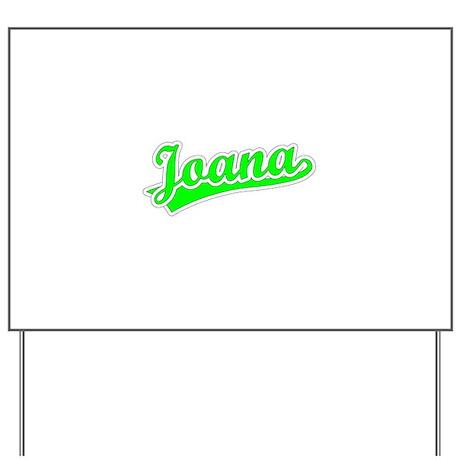 Retro Joana (Green) Yard Sign