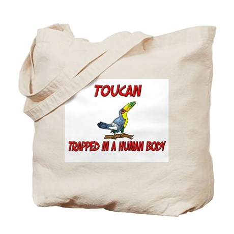 Toucan trapped in a human body Tote Bag