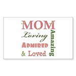 Mom Mother's Day Rectangle Sticker 50 pk)