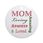 Mom Mother's Day Ornament (Round)
