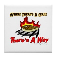 Where there's a Grill There's Tile Coaster