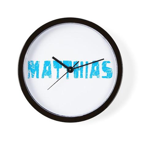 Matthias Faded (Blue) Wall Clock