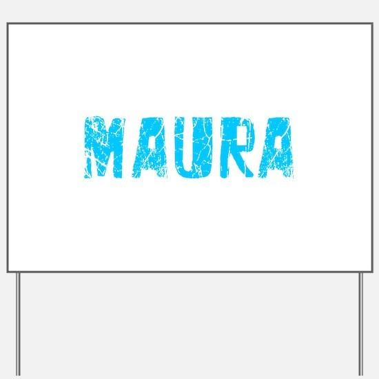 Maura Faded (Blue) Yard Sign
