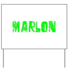 Marlon Faded (Green) Yard Sign