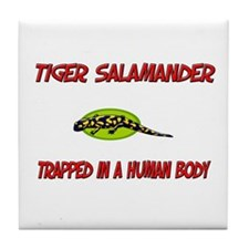 Tiger Salamander trapped in a human body Tile Coas