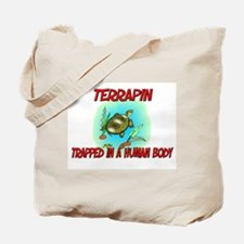 Terrapin trapped in a human body Tote Bag