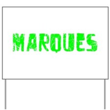 Marques Faded (Green) Yard Sign