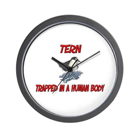 Tern trapped in a human body Wall Clock