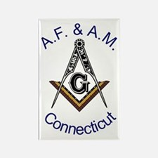 Connecticut Square and Compas Rectangle Magnet