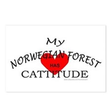 NORWEGIAN FOREST Postcards (Package of 8)