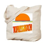 Topless Beach Tote Bag