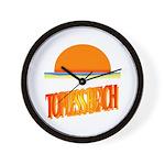 Topless Beach Wall Clock