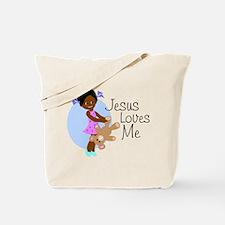 Jesus Loves Me Tote Bag