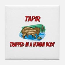 Tapir trapped in a human body Tile Coaster