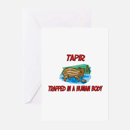 Tapir trapped in a human body Greeting Cards (Pk o