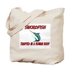 Swordfish trapped in a human body Tote Bag