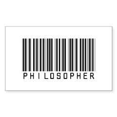 Philosopher Barcode Rectangle Decal