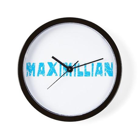 Maximillian Faded (Blue) Wall Clock