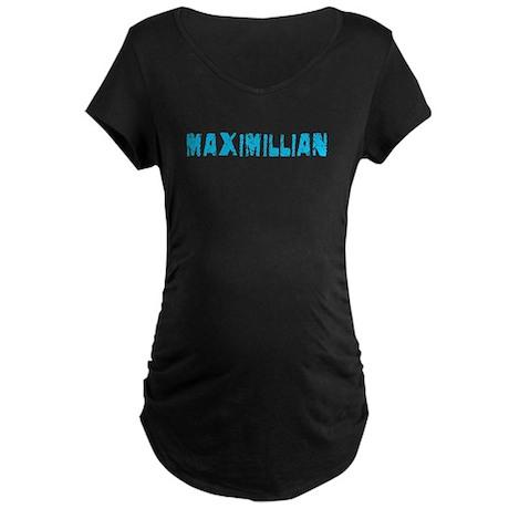 Maximillian Faded (Blue) Maternity Dark T-Shirt