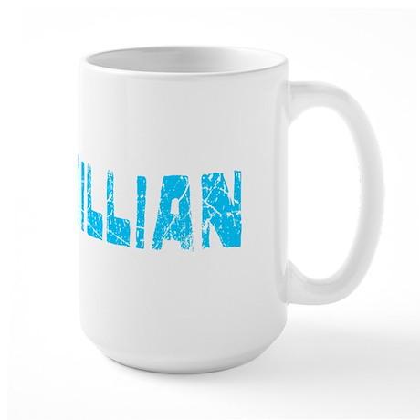 Maximillian Faded (Blue) Large Mug