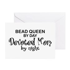 Bead Queen Devoted Mom Greeting Cards (Pk of 10)