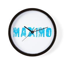 Maximo Faded (Blue) Wall Clock