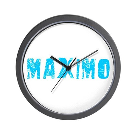 Maximo Faded (Blue) Wall Clock