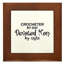 Crochet Devoted Mom Framed Tile