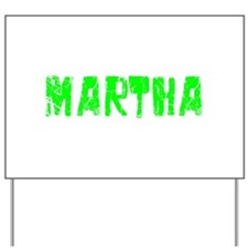 Martha Faded (Green) Yard Sign