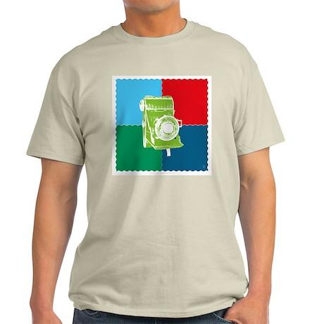 Ash Grey T-Shirt - Folding camera