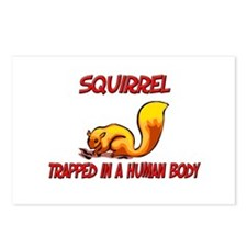 Squirrel trapped in a human body Postcards (Packag