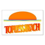 Topless Beach Rectangle Sticker