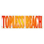 Topless Beach Bumper Sticker