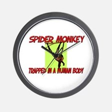 Spider Monkey trapped in a human body Wall Clock