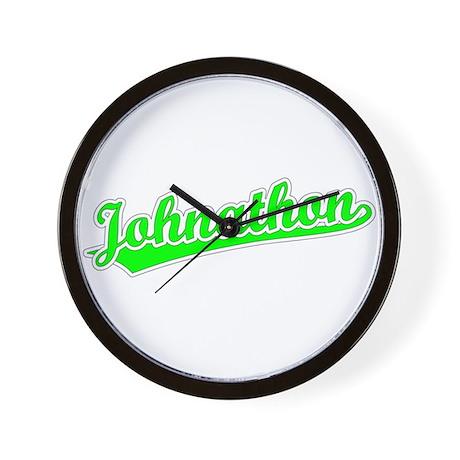 Retro Johnathon (Green) Wall Clock