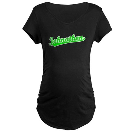 Retro Johnathon (Green) Maternity Dark T-Shirt