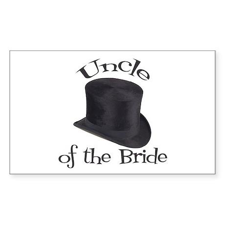 Top Hat Bride's Uncle Rectangle Sticker