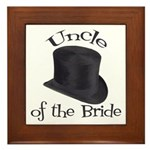 Top Hat Bride's Uncle Framed Tile