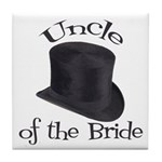 Top Hat Bride's Uncle Tile Coaster