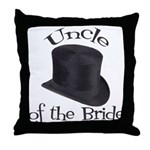 Top Hat Bride's Uncle Throw Pillow