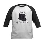 Top Hat Bride's Uncle Kids Baseball Jersey