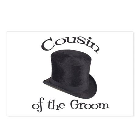 Top Hat Groom's Cousin Postcards (Package of 8)