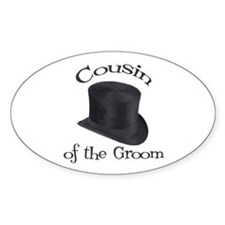 Top Hat Groom's Cousin Oval Decal