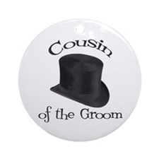 Top Hat Groom's Cousin Ornament (Round)