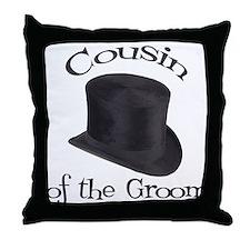 Top Hat Groom's Cousin Throw Pillow