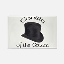 Top Hat Groom's Cousin Rectangle Magnet