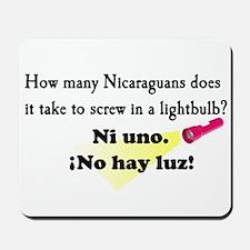 No Hay Luz Mousepad
